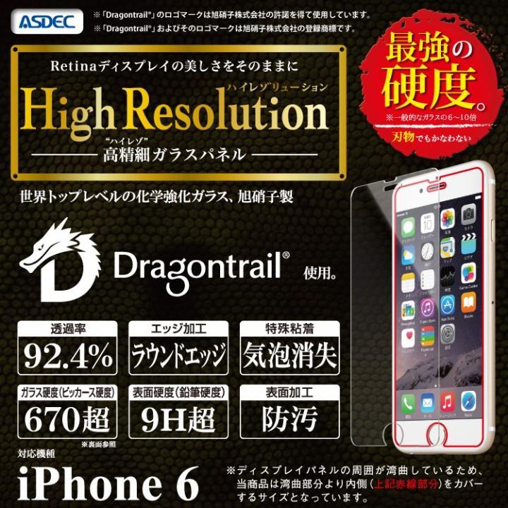 iPhone6 フィルム [0.5mm]ハイレゾ強化ガラスフィルム High Resolution ドラゴントレイル iPhone 6_0