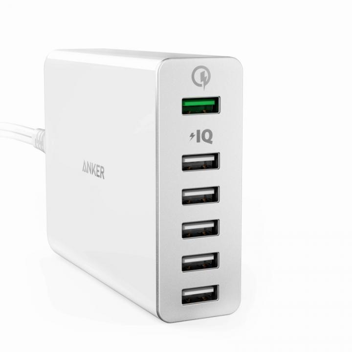 Anker PowerPort+ 6ポート Quick Charge 2.0対応ホワイト