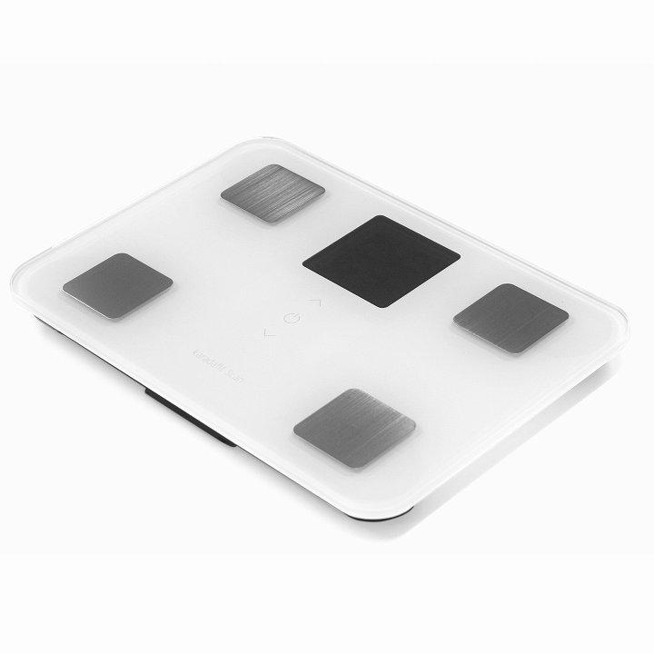 iPhone対応体重体組成計 Bluetoothモデル karadafit Scan ホワイト_0