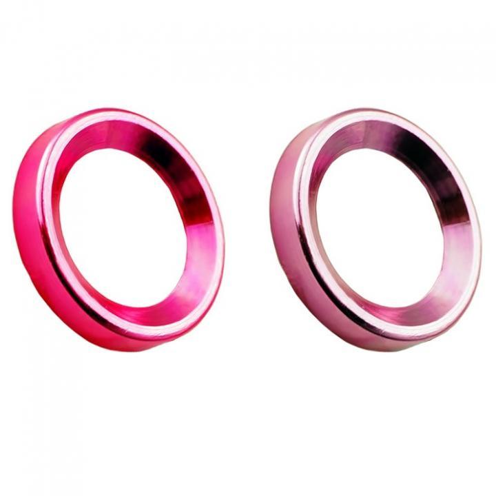 カメラレンズ保護 iCamera PROTECTOR ピンク+レッド