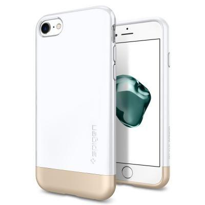 【iPhone7ケース】Spigen スタイルアーマー ジェットホワイト iPhone 7_0