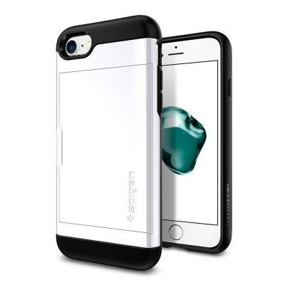 Spigen スリムアーマー カード収納 ジェットホワイト iPhone 8/7
