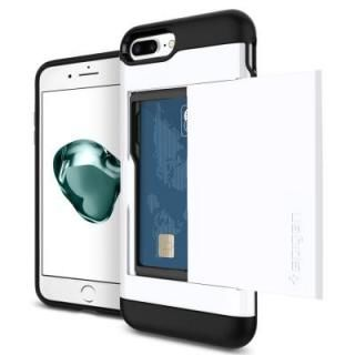 Spigen スリムアーマー カード収納 ジェットホワイト iPhone 7 Plus
