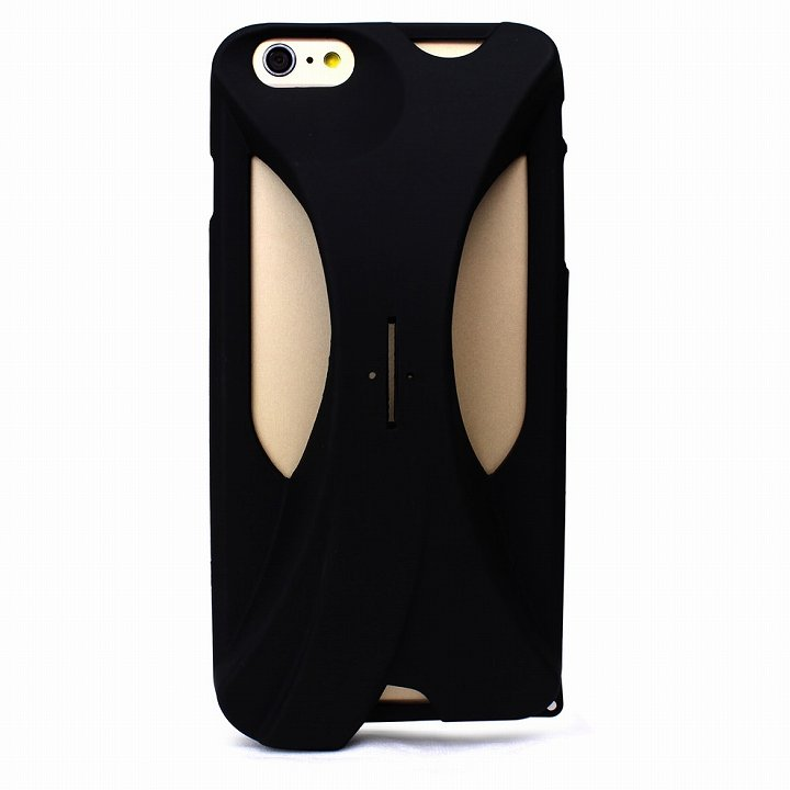 iPhone6s Plus/6 Plus ケース 装着で音量増幅 サウンドアンプケース ブラック iPhone 6s Plus/6 Plus_0