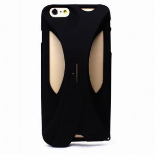装着で音量増幅 サウンドアンプケース ブラック iPhone 6s Plus/6 Plus