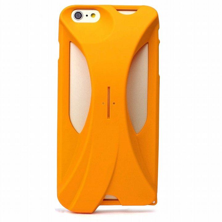 装着で音量増幅 サウンドアンプケース イエロー iPhone 6 Plus