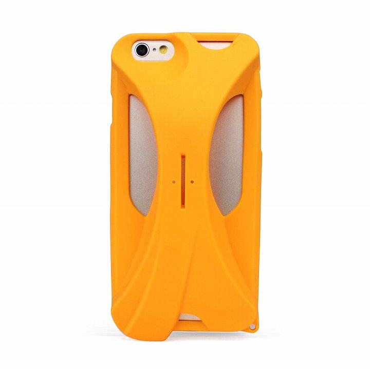 【iPhone6ケース】装着で音量増幅 サウンドアンプケース イエロー iPhone 6_0