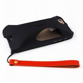【iPhone6ケース】装着で音量増幅 サウンドアンプケース オレンジ iPhone 6_7