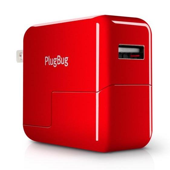 アタッチメント式10W USB電源アダプタ PlugBug