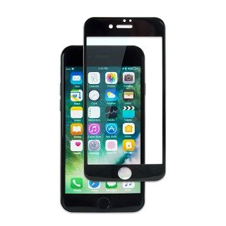 PETフレーム 強化ガラス ブラック iPhone 7 Plus