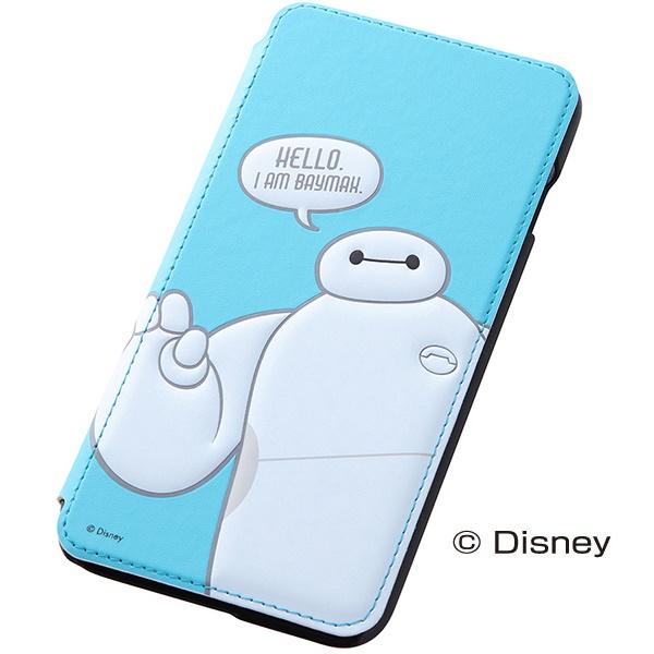 iPhone6 Plus ケース ディズニー ベイマックス 手帳型ケース ブルー iPhone 6 Plus_0