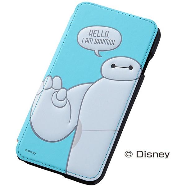 ディズニー ベイマックス 手帳型ケース ブルー iPhone 6
