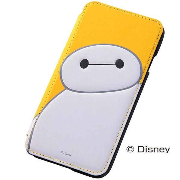 【iPhone6ケース】ディズニー ベイマックス 手帳型ケース イエロー iPhone 6_0
