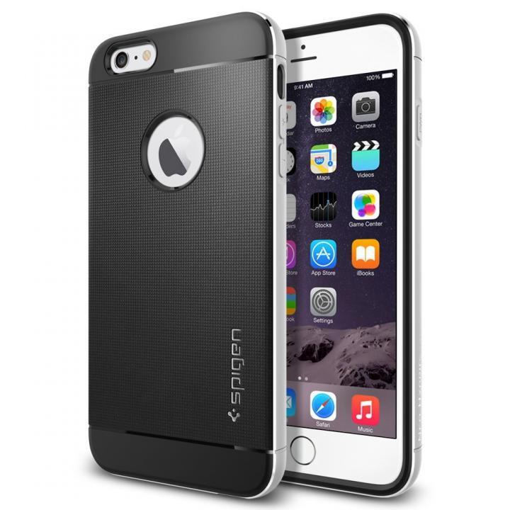 【iPhone6 Plusケース】Spigen アルミフレーム ネオ・ハイブリッド メタル シルバー iPhone 6 Plus_0