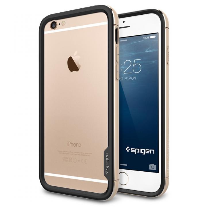 【iPhone6ケース】Spigen アルミバンパー ネオ・ハイブリッド EXメタル ゴールド iPhone 6_0