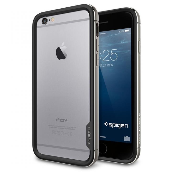【iPhone6ケース】Spigen アルミバンパー ネオ・ハイブリッド EXメタル グレイ iPhone 6_0