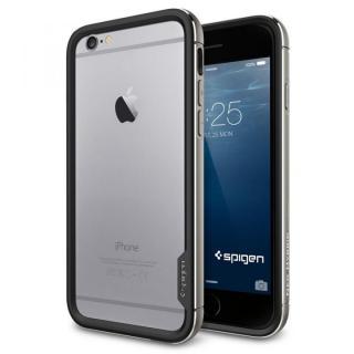 Spigen アルミバンパー ネオ・ハイブリッド EXメタル グレイ iPhone 6