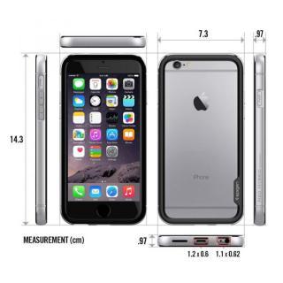 【iPhone6ケース】Spigen アルミバンパー ネオ・ハイブリッド EXメタル グレイ iPhone 6_6