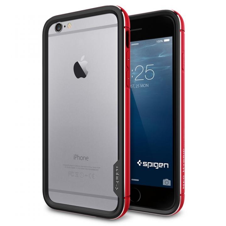 【iPhone6ケース】Spigen スリムハードバンパー ネオ・ハイブリッド EX レッド iPhone 6_0