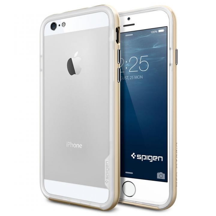 【iPhone6ケース】Spigen スリムハードバンパー ネオ・ハイブリッド EX ゴールド iPhone 6_0