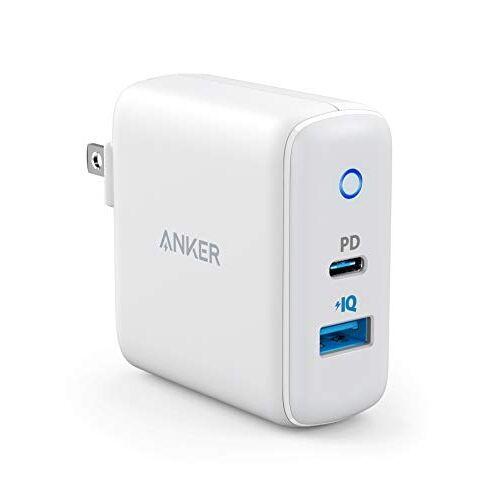 Anker PowerPort PD2 PD対応 30W 2ポート USB-A & USB-C 急速充電器 ホワイト【8月中旬】_0