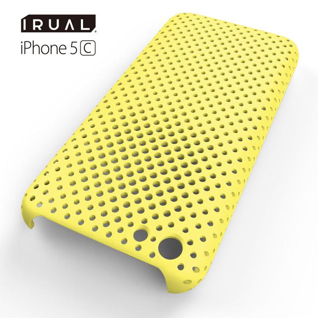 MESH SHELL CASE(メッシュシェルケース)  iPhone 5c MAT YELLOW(イエロー)_0