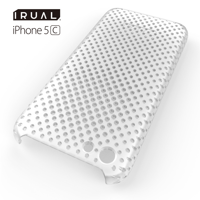 MESH SHELL CASE(メッシュシェルケース)  iPhone 5c MAT CLEAR(クリア)
