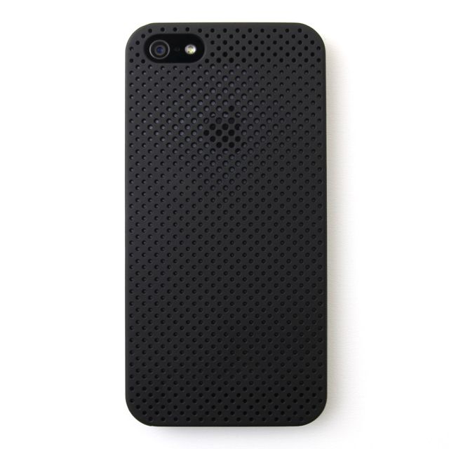 【iPhone SE/5s/5ケース】MESH SHELL CASE(メッシュシェルケース)  iPhone SE/5s MAT BLACK(ブラック)_0