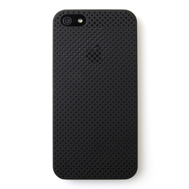 【iPhone SE/5s/5ケース】MESH SHELL CASE(メッシュシェルケース)  iPhone SE/5s MAT BLACK(ブラック)_0