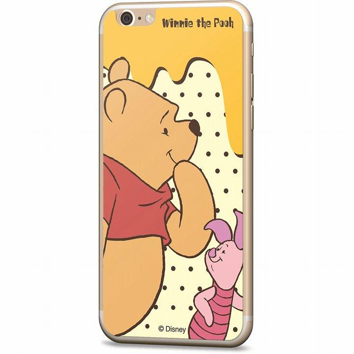 ディズニー 背面強化ガラス くまのプーさん&ピグレット iPhone 6
