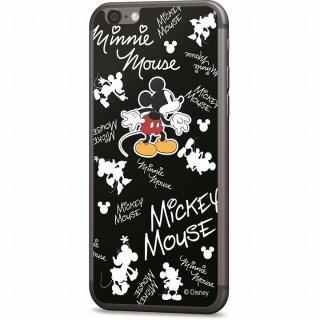 ディズニー 背面強化ガラス ミッキーマウス 総柄 iPhone 6