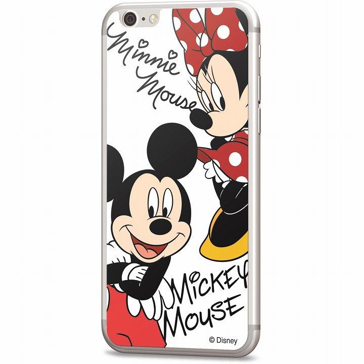 【iPhone6s/6フィルム】ディズニー 背面強化ガラス ミッキー&ミニー iPhone 6s/6_0