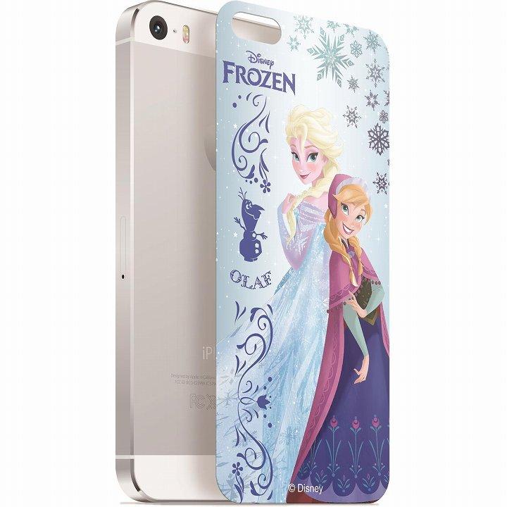 iPhone SE/5s/5 フィルム ディズニー 背面強化ガラス アナと雪の女王 アナ&エルサ iPhone SE/5s/5_0
