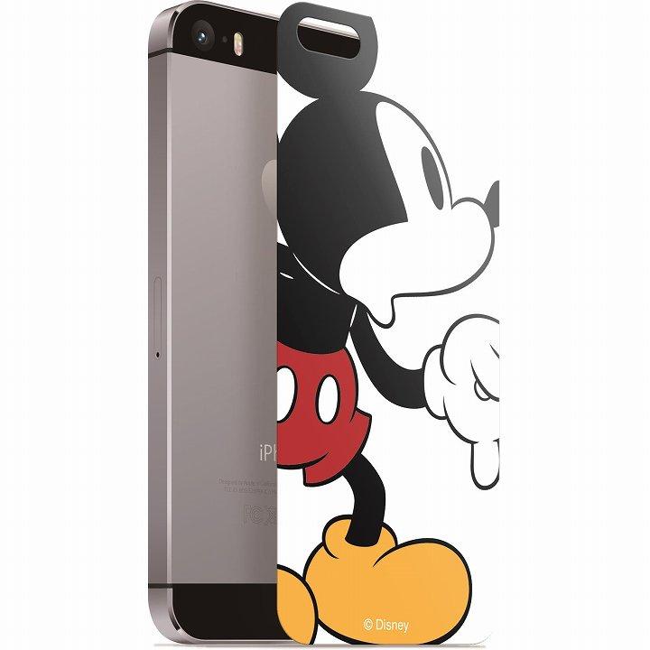 ディズニー 背面強化ガラス ミッキーマウス iPhone SE/5s/5