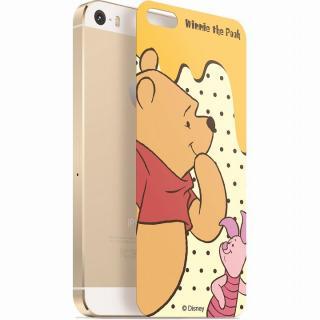 ディズニー 背面強化ガラス くまのプーさん&ピグレット iPhone SE/5s/5