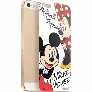 ディズニー 背面強化ガラス ミッキー&ミニー iPhone SE/5s/5