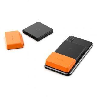 BricksPower  スマホに吸い付くQi対応モバイルバッテリー 3000mAh オレンジ【6月下旬】