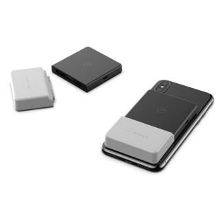 BricksPower  スマホに吸い付くQi対応モバイルバッテリー 3000mAh グレー【4月下旬】