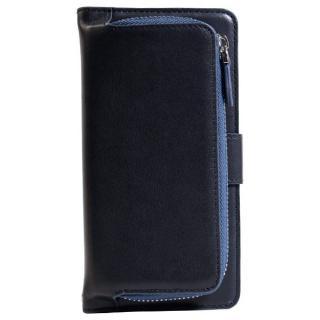 [夏フェス特価]コインケース付本革手帳型ケース ネイビー iPhone 6s Plus/6 Plus