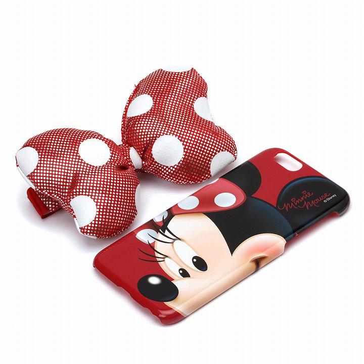 【iPhone6s/6ケース】ディズニー ケース&リボンバンドセット ミニーマウス iPhone 6s/6_0