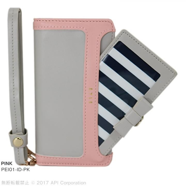 iPhone8/7/6s/6 ケース EYLE I.D. 手帳型ケース ピンク iPhone SE 第2世代/8/7_0