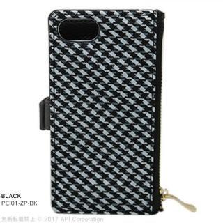 【iPhone8/7/6s/6ケース】EYLE Zipper 手帳型ケース ブラック iPhone 8/7/6s/6_1
