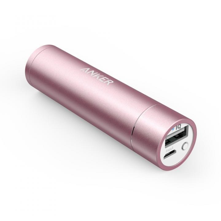 [3350mAh]Anker PowerCore+ mini スティック型モバイルバッテリー ピンク_0