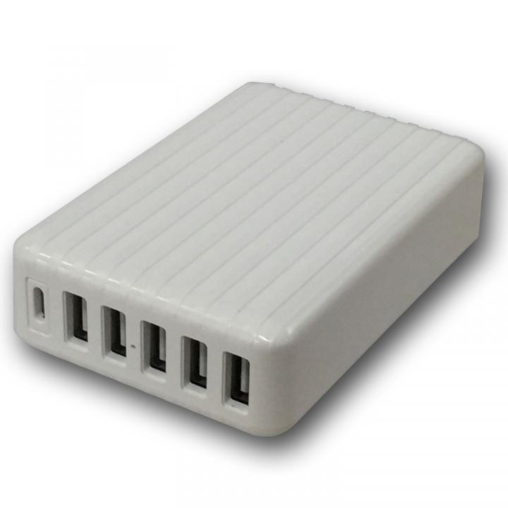 快適充電生活 USB AC チャージャー 急速充電 6ポートUSB充電器 Type-C搭載_0