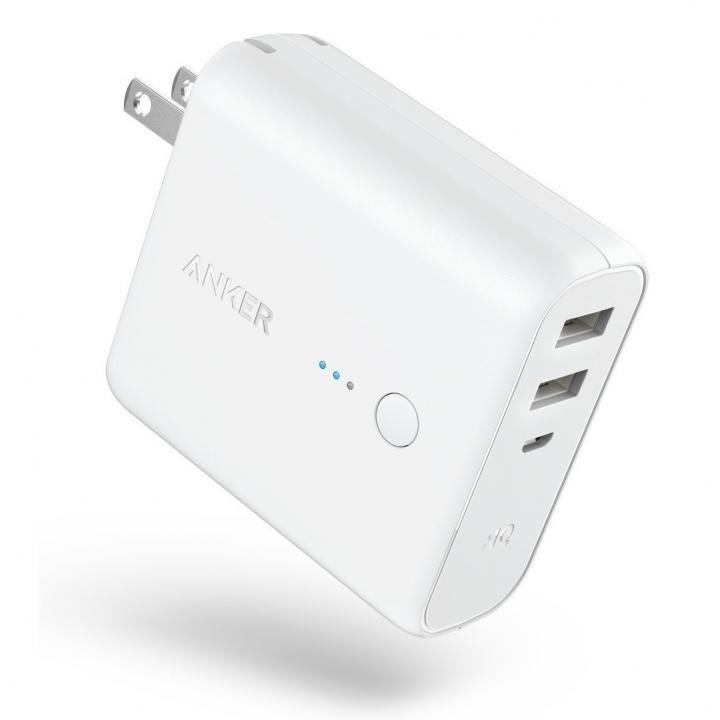 [5000mAh]Anker PowerCore Fusion 5000 USB急速充電器/モバイルバッテリー ホワイト_0