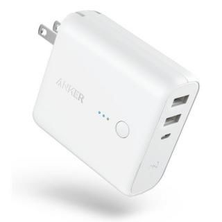[5000mAh]Anker PowerCore Fusion 5000 USB急速充電器/モバイルバッテリー ホワイト【7月上旬】