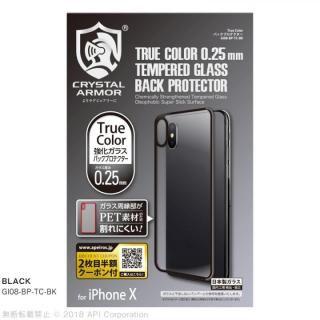 iPhone X フィルム True Color バックプロテクター ブラック iPhone X