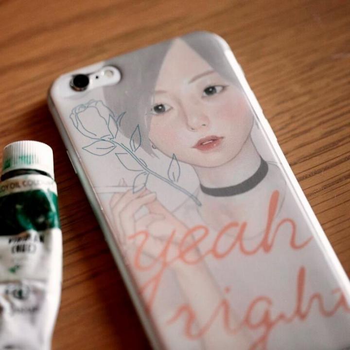 雪下まゆ ケース/Year right girl iPhone 8/7