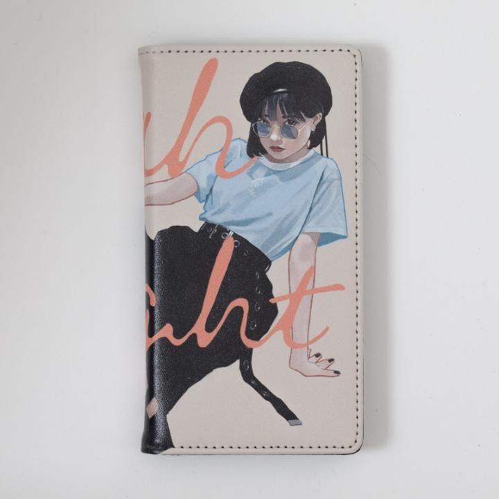 雪下まゆ 手帳型ケース/Sunglasses girl iPhone 8/7/6s/6