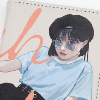 【iPhone8/7/6s/6ケース】雪下まゆ 手帳型ケース/Sunglasses girl iPhone 8/7/6s/6_4